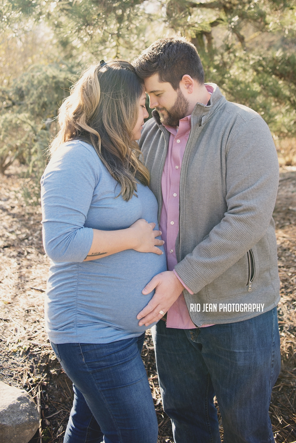Couple Snuggling Maternity Session